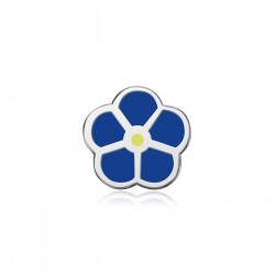 Pins Fleur Bleue Jaune Myosotis Franc-Maçon Pin's Email IM#18539