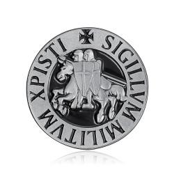 Pin Sello de los Caballeros Templarios, 25mm IM#18569