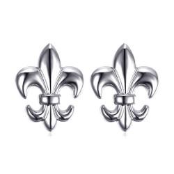 Lote de 2 Pin Chincheta Broche de Fleur-de-Lys de Latón de Plata IM#18587