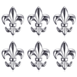Lot de 6 Pin's Epingle Broche Fleur de Lys Laiton Argenté