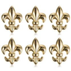 Lote de 6 Pin Chincheta Broche de Fleur-de-Lys Latón