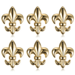 Lotto di 6 Pin Stickpin Spilla Fleur-de-Lys in Ottone IM#18614