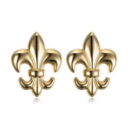 Lote de 2 Pin Chincheta Broche de Fleur-de-Lys Latón IM#18628