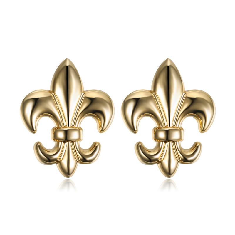 Lot de 2 Pin's Epingle Broche Fleur de Lys Laiton Doré IM#18628