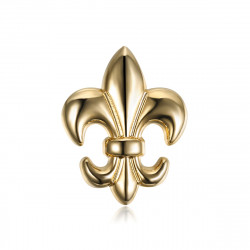 PIN0031-1 BOBIJOO Jewelry Fleur de Lys brass pins Gilded with fine gold