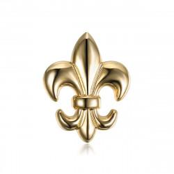 Spille Fleur de Lys in ottone Dorato con bobijoo in oro fino