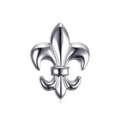 PIN0026-1 BOBIJOO Jewelry Fleur-de-Lys pins in silver brass
