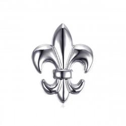 Spille Fleur de Lys in ottone Argento bobijoo