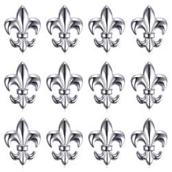 PIN0027-12 BOBIJOO Jewelry Los mit 12 Fleur-de-Lys-Stiften aus Silbermessing