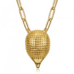 PE0318 BOBIJOO Jewelry Ciondolo gufo in acciaio inossidabile 316L con occhi rossi argento