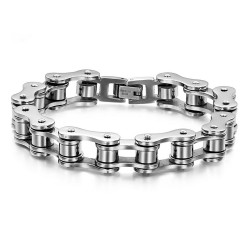Bracelet Chain Steel motorcycle Chrome Man IM#18734