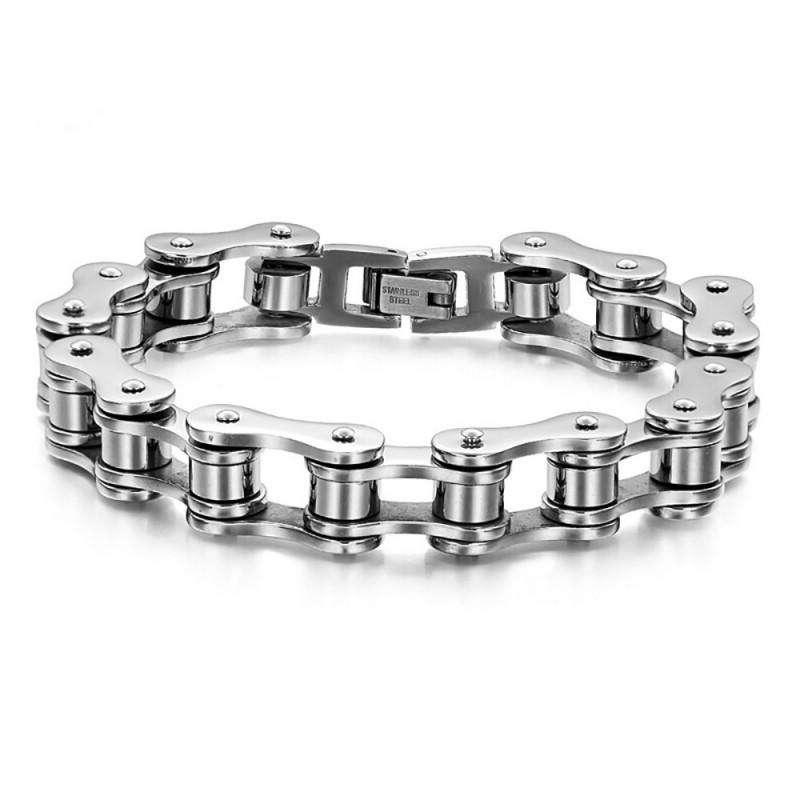 Bracelet chaine moto Bijou acier inoxydable 316L IM#18734