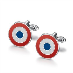 BM0048 BOBIJOO Jewelry French Quality cockade cufflink, Cocorico