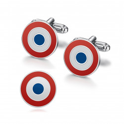 BM0049 BOBIJOO Jewelry Cufflinks and cockade pins, quality set