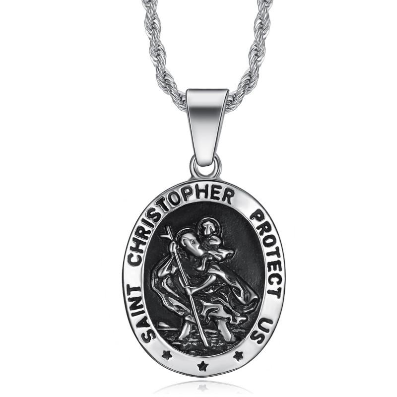 Médaille saint christophe Homme Patron voyageurs bobijoo