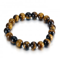 Bracelet Stone Balls, Tiger Eye 10mm IM#18833