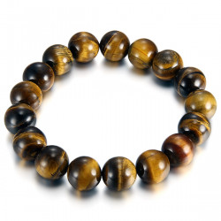 Stones Bracelet Balls Tiger Eye 12mm IM#18839