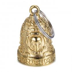 MOT0031 BOBIJOO Jewelry Gremlins bell Live to Ride Skull Cadena de motocicleta dorado