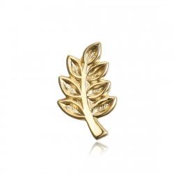 PIN0003 BOBIJOO Jewelry Kiefern-Zweig von Acacia, die Freimaurer Vergoldet, Gold