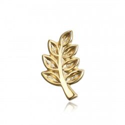 PIN0003 BOBIJOO Jewelry Pine Branch of Acacia freemason, Gold