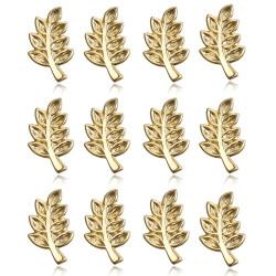 Lot 12 Pins Zweig von Acacia, die Freimaurer Vergoldet, Gold IM#19062