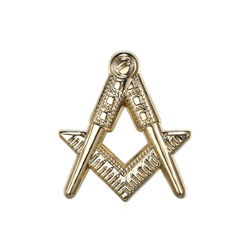 Pins Freimaurer G Winkel Zirkel Gold IM#19068