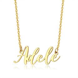 PEF0065 BOBIJOO Jewelry Namenskette Frau Edelstahl Vergoldet Ihrer Wahl
