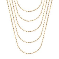 COH0036 BOBIJOO Jewelry Catena a trombone in acciaio dorato da 2 mm a maglia di cavallo