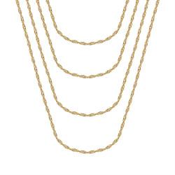 COH0037 BOBIJOO Jewelry Singapore mesh Cadena de mujer Steel Gold