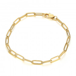 BR0284 BOBIJOO Jewelry Maglia cavallo: bracciale trombone in acciaio dorato da 4 mm