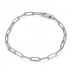 BR0284S BOBIJOO Jewelry Malla de caballo: brazalete de trombón plateado de acero de 4 mm