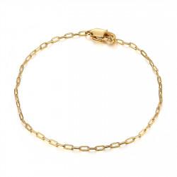 BR0285 BOBIJOO Jewelry Maglia cavallo: bracciale trombone in acciaio dorato da 2 mm