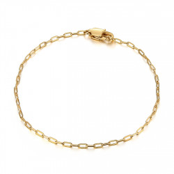 BR0285 BOBIJOO Jewelry Malla de caballo: brazalete de trombón de acero dorado de 2 mm