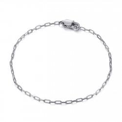 BR0285S BOBIJOO Jewelry Horse mesh: 2mm steel silver trombone bracelet