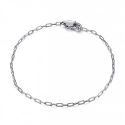 BR0285S BOBIJOO Jewelry Malla de caballo: brazalete de trombón plateado de acero de 2 mm