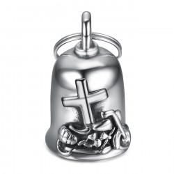 MOT0038 BOBIJOO Jewelry Campana da guardia a croce latina Bécane in acciaio 316L