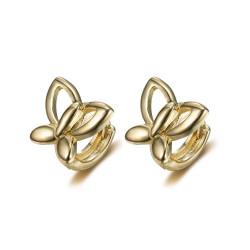 BOE0008 BOBIJOO Jewelry Baby Kind Gold Gold Schmetterling Ohrringe