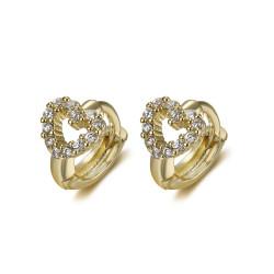 BOE0009 BOBIJOO Jewelry Pendientes Bebé Niño Amor Corazón