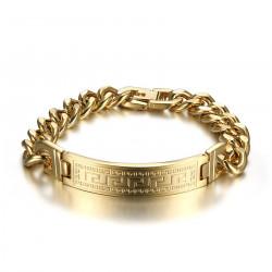 GO0007 BOBIJOO Jewelry Pulsera Hombre Oro Pulsera Acero Inoxidable