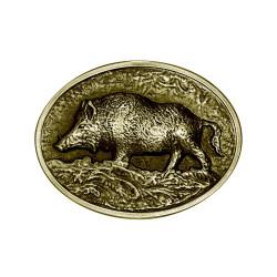 BC0020B BOBIJOO Jewelry Bronze Wildschweinjäger Gürtelschnalle