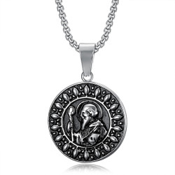 PE0074 BOBIJOO Jewelry Saint Benedict Medal Anhänger und Kette Edelstahl