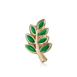 Kiefern-Zweig von Acacia, die Freimaurer Vergoldet Gold Grün IM#19960