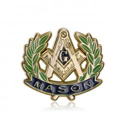 Pins Masonic G Bracket Compass Acacia Gold IM#19982