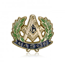 Pins Masonic G Winkel Kompass-Akazie Vergoldet, Gold IM#19982
