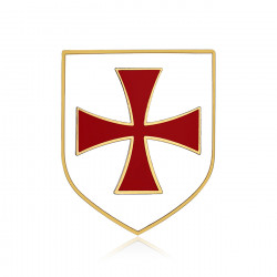 Pine Shield Templar Knight White Cross Pattee Red IM#19994