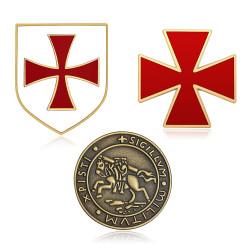 Lote de 3 insignia de la Orden de los Caballeros Templarios IM#20000