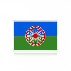 PIN0039 BOBIJOO Jewelry Pines de viajero, la bandera romana de plata y esmalte