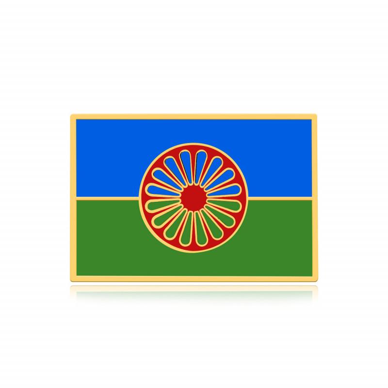 Pins gens du voyage, le drapeau rom Or et émail bobijoo
