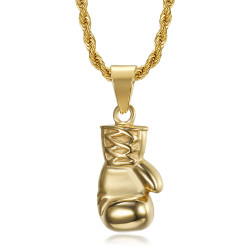 PE0324 BOBIJOO Jewelry Ciondolo guanto da boxe in oro Acciaio inossidabile