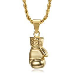 PE0324 BOBIJOO Jewelry Colgante de oro con guante de boxeo Acero inoxidable